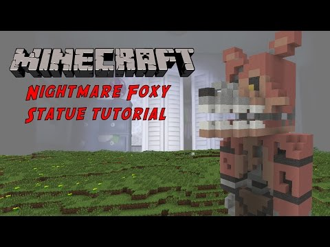 Minecraft Tutorial: Nightmare Foxy (Five Nights At Freddy's 4) Statue