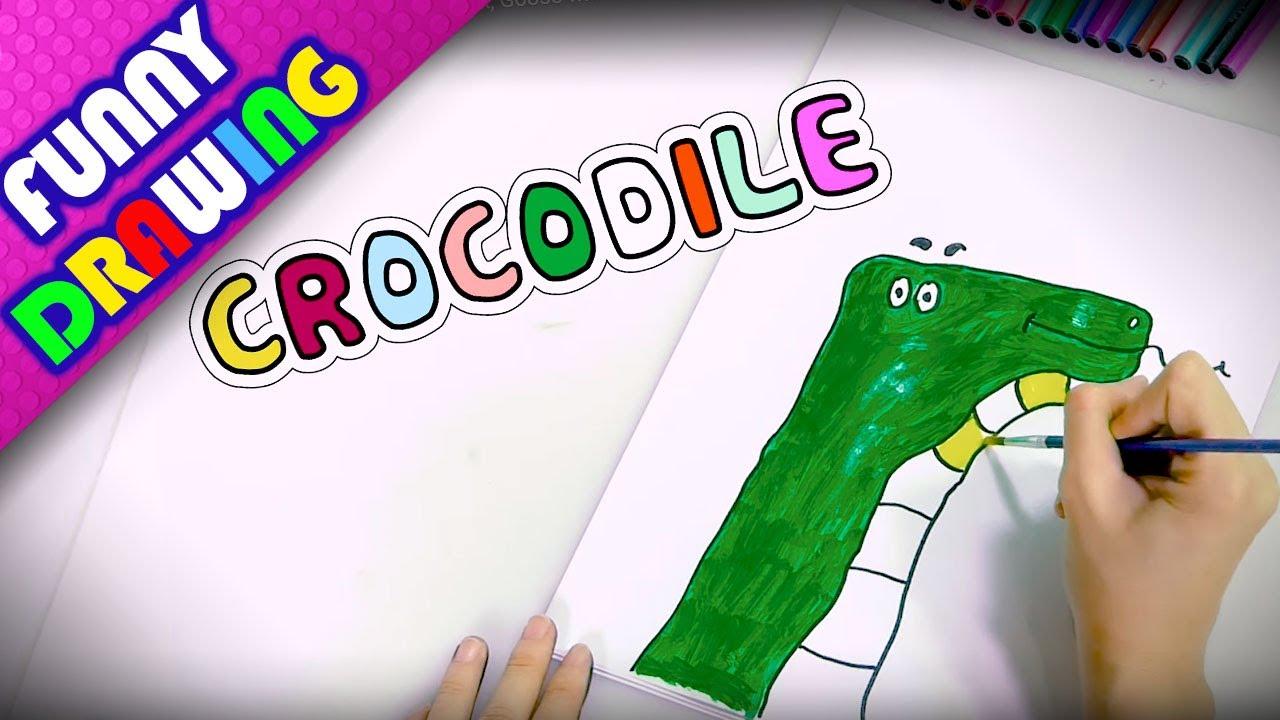 DIY - How to draw a Crocodile, Shark, Goose with hand - Dạy bé vẽ con vật bằng chữ cái