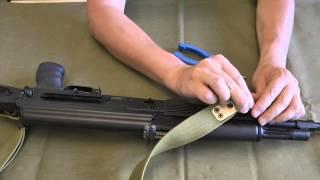 Як встановити армійський ремінь на АК/Сайгу