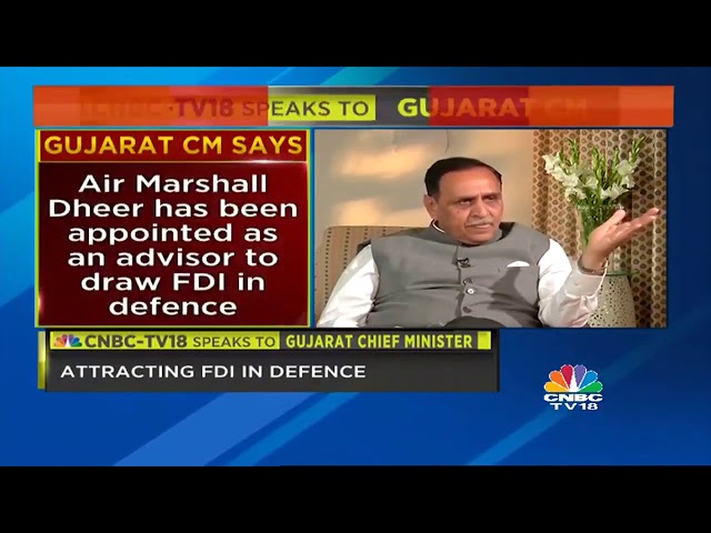 Gujarat CM Vijay Rupani Exclusive On CNBC TV18 about Dholera