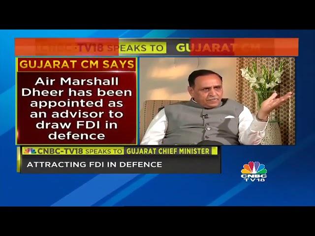 Gujarat CM Vijay Rupani Exclusive On CNBC TV18 about Dholera