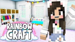 💙Decorating My House + Dying A Lot! Rainbowcraft Ep. 3