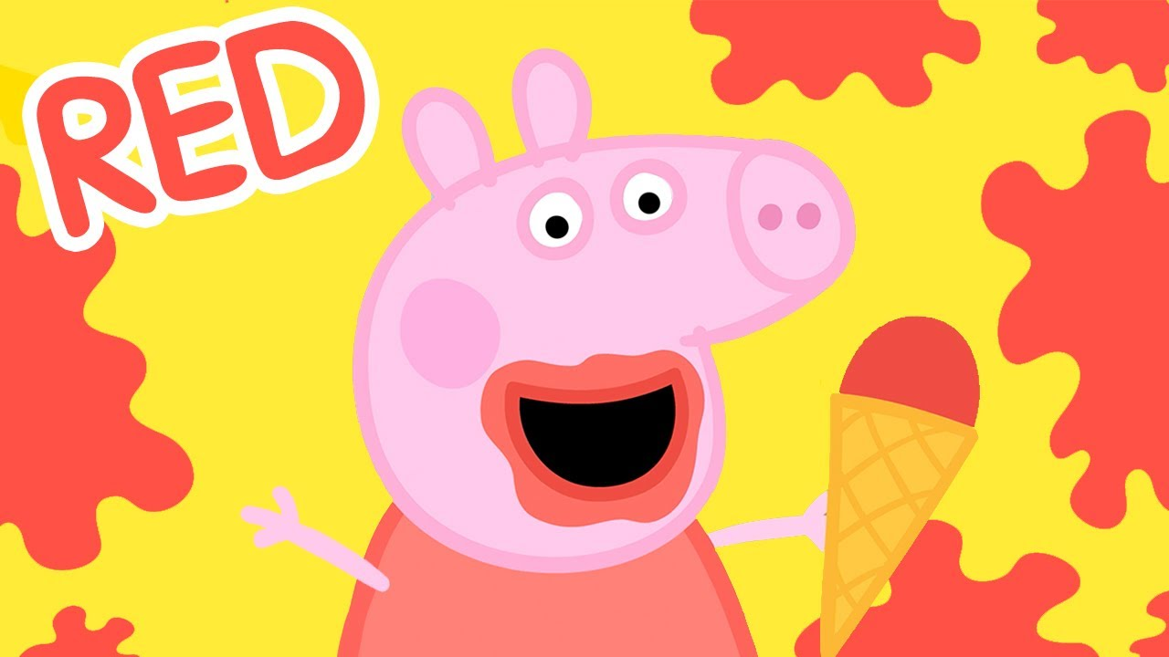 Peppa Pig ❤️ Learn Colours with Peppa - RED | Learning Videos for Toddlers | Learn with Peppa Pig