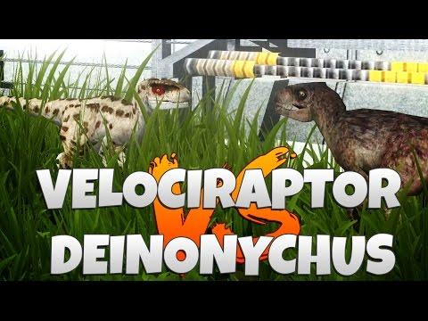 Jurassic Park: Operation Genesis - Velociraptor V Deinonychus Battle Arena!