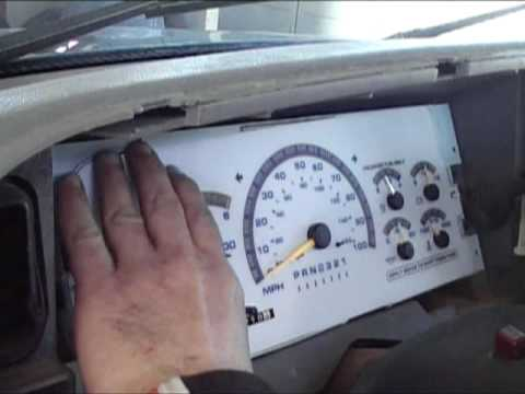 98 ford ranger instrument cluster swap