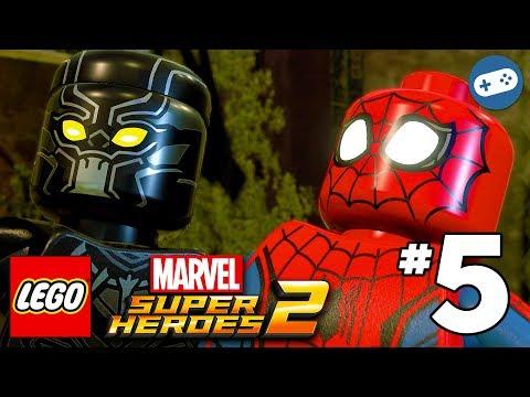 LEGO Marvel Super Heroes 2 Walkthrough Part 5 - Black Panther Vs. Man-Ape Boss Fight