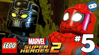 LEGO Marvel Super Heroes 2 Walkthrough Part 5 - Black Panther Vs. Man-Ape Boss Fight