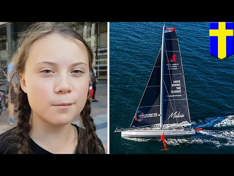 Greta Thunberg will sail to New York for UN climate summit - TomoNews