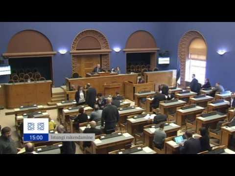 Riigikogu pooltund 14.10.16