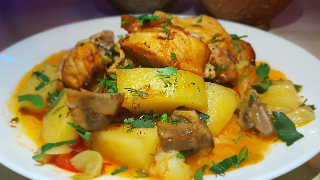 Жаркое в горшочках по-цыгански. Мясо с овощами в горшочках. Gipsy cuisine.