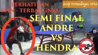 Permainan Cantik Andre Garut Melawan Mas Hendra Cirebon - 2016