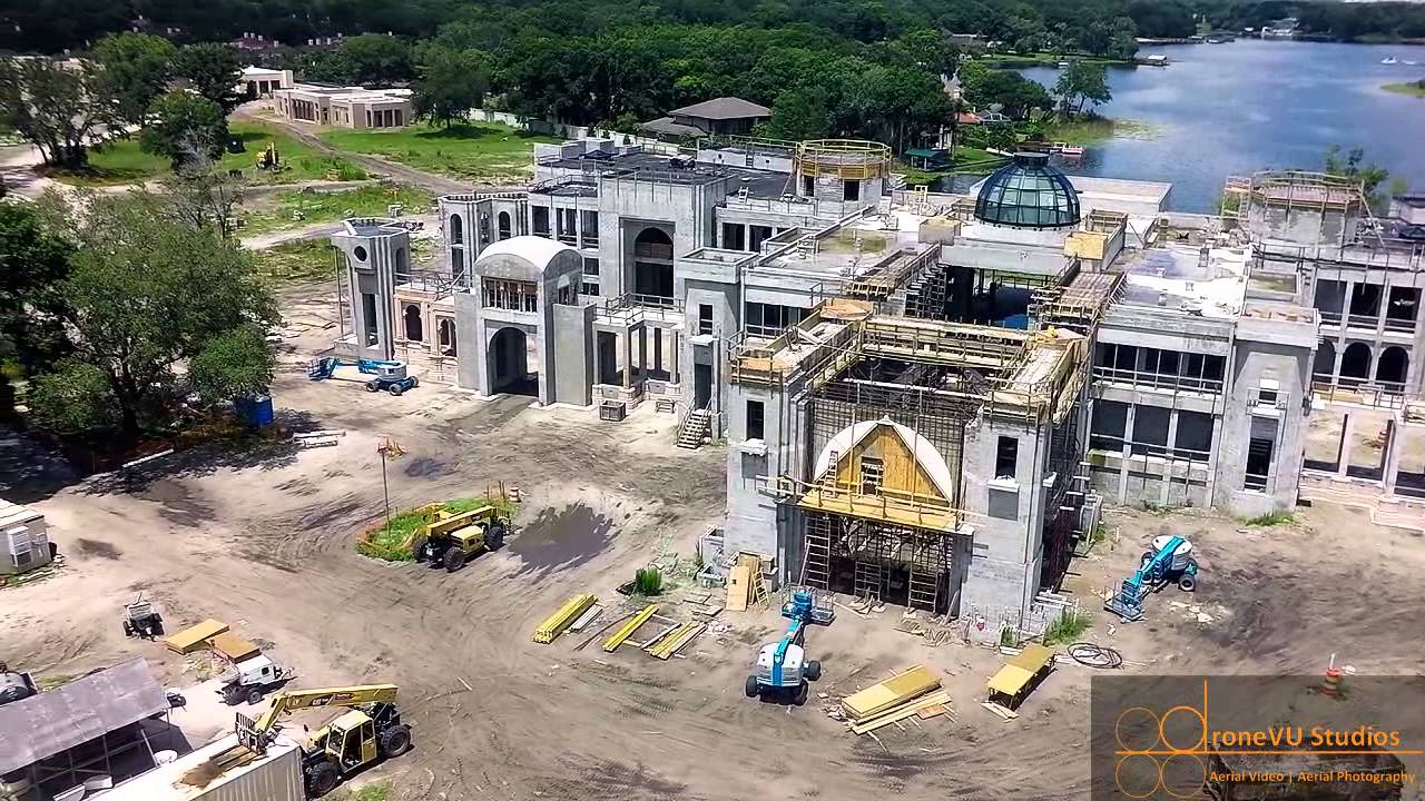 Aerial drone video of the biggest house in tampa youtube for Biggest house in miami