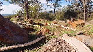 Wooden Toy Train Set in Australian Bush - Toy Train Track 35