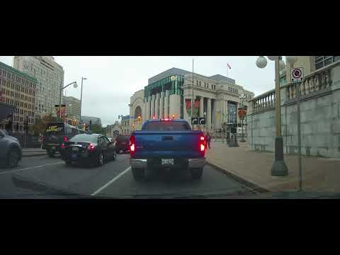 Driving From Gatineau, Quebec To Downtown Ottawa, Ontario - Canada