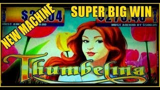 NEW MACHINE ~ THUMBELINA Slot Machine Bonus ~ SUPER Big Win!