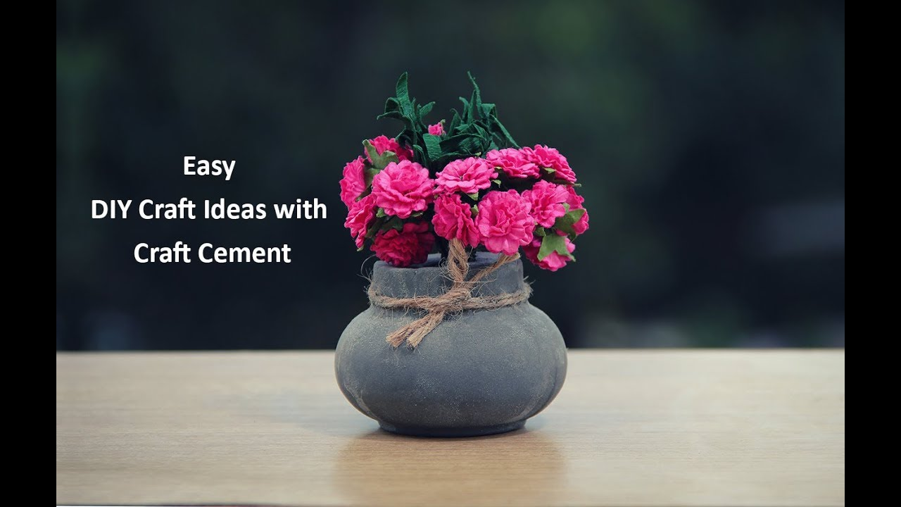 Easy Diy Craft Ideas With Craft Cement Youtube