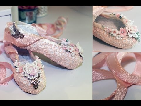 Paper Mache Ballet Slippers Tutorial - Shabbylishious DT Project