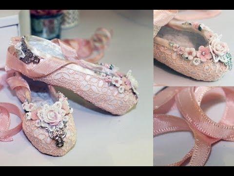 Paper Mache Ballet Slippers Tutorial - Shabbylishious DT Project