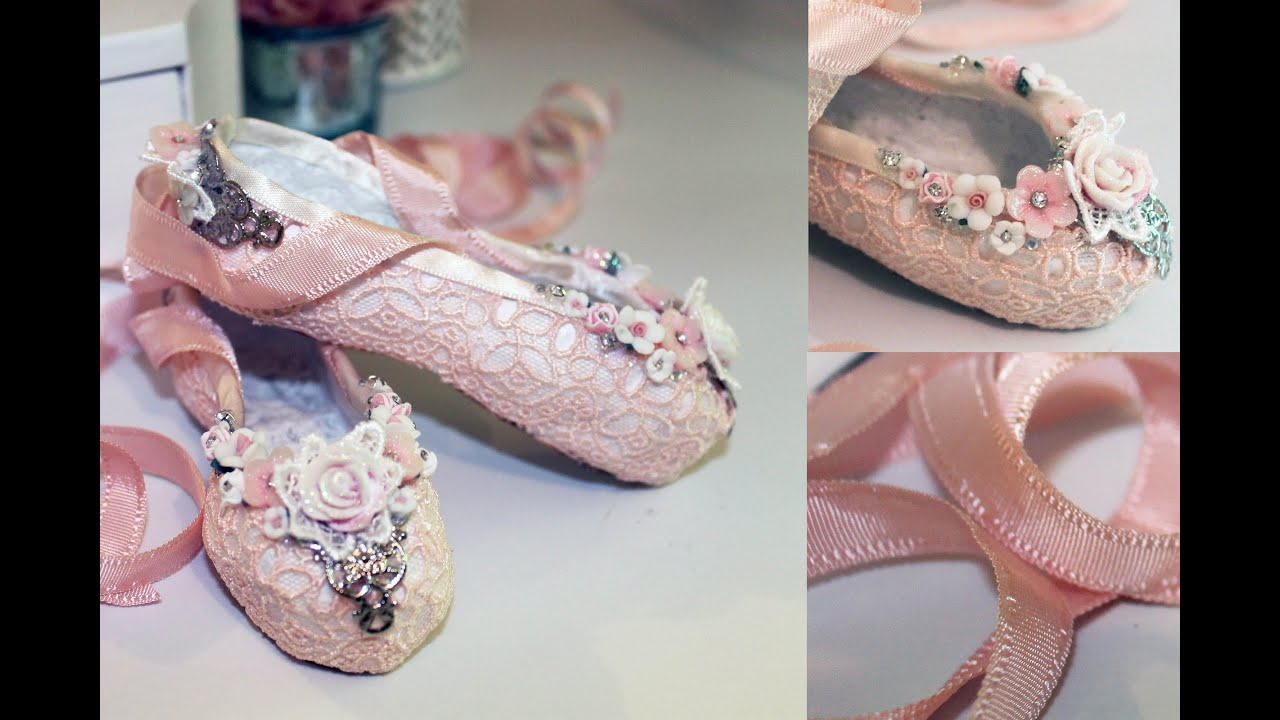 paper mache ballet slippers tutorial shabbylishious dt project