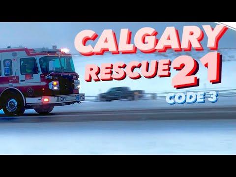 CFD   Calgary Rescue 21 Responding