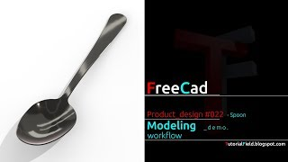 Freecad tutorial - Product design #022 - Spoon