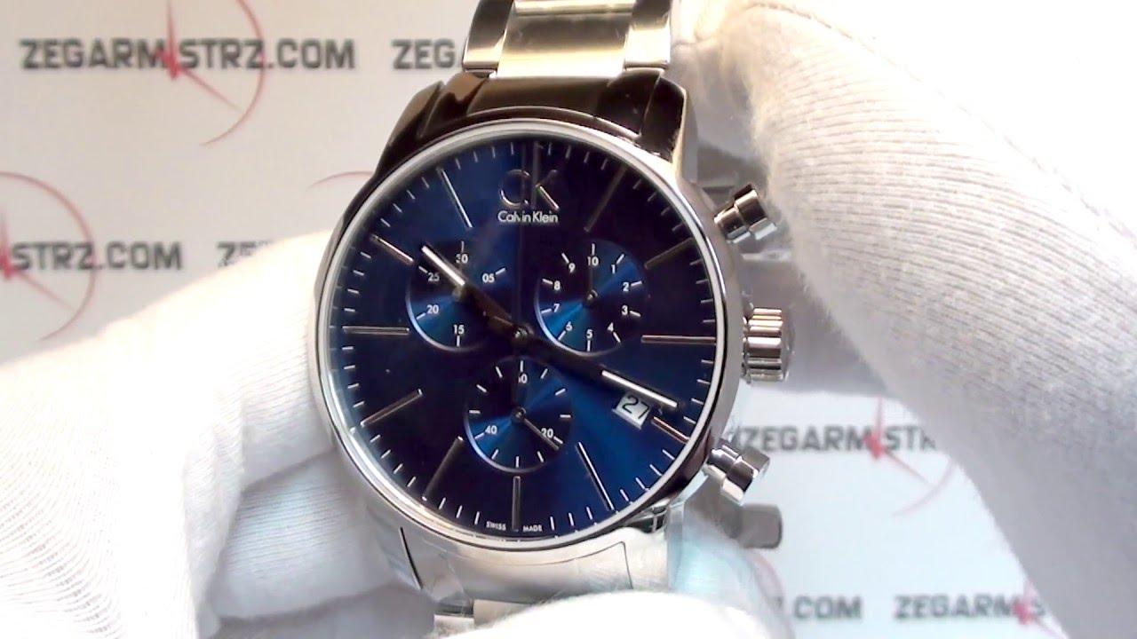 cb81fd1f2748 Calvin Klein Gent City Chrono ck K2G2714N www.zegarmistrz.com - YouTube