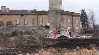 Burzenie komina - Choroszcz 29.12.2011