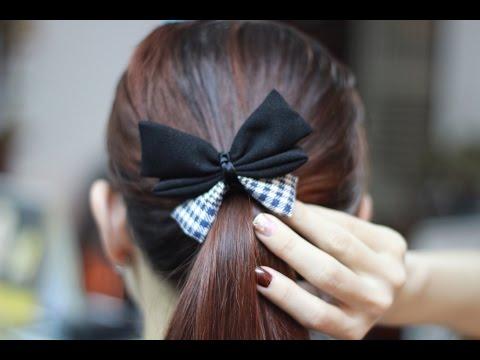 Nơ buộc tóc hình con bướm xinh