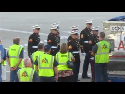 US Military coffin transfer at DFW airport