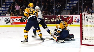 Veleno bats puck out of mid-air to tie game between Otters & Sea Dogs