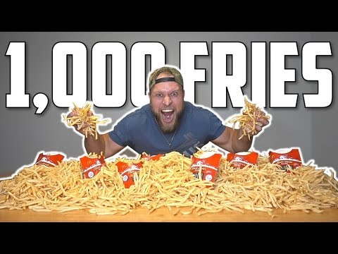 1,000 MCDONALD'S FRENCH FRIES EATING CHALLENGE!
