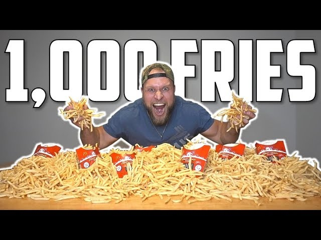 1 000 Mcdonalds French Fries Eating Challenge
