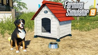 FS19- MEET REX! THE FARM DOG | ANIMAL TOUR FOR FARMING SIMULATOR 2019