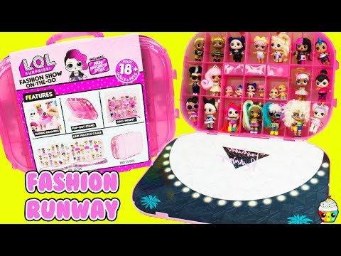 LOL NEW 4-in-1 Fashion Show On The Go Fan Favorite Surprise Doll Cupcake Kids Club