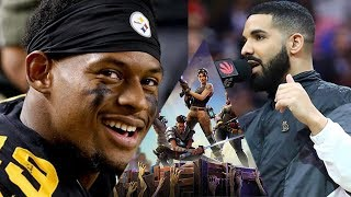 Juju Smith Schuster Teams Up With Drake To DESTROY World Record Playing Fortnite!