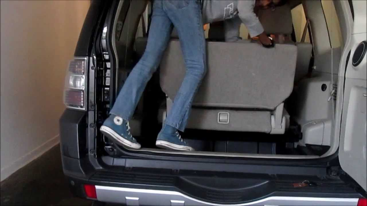 how to fold the 3rd row seats from 2000 2016 mitsubishi montero youtube - Mitsubishi Montero 2003 Interior