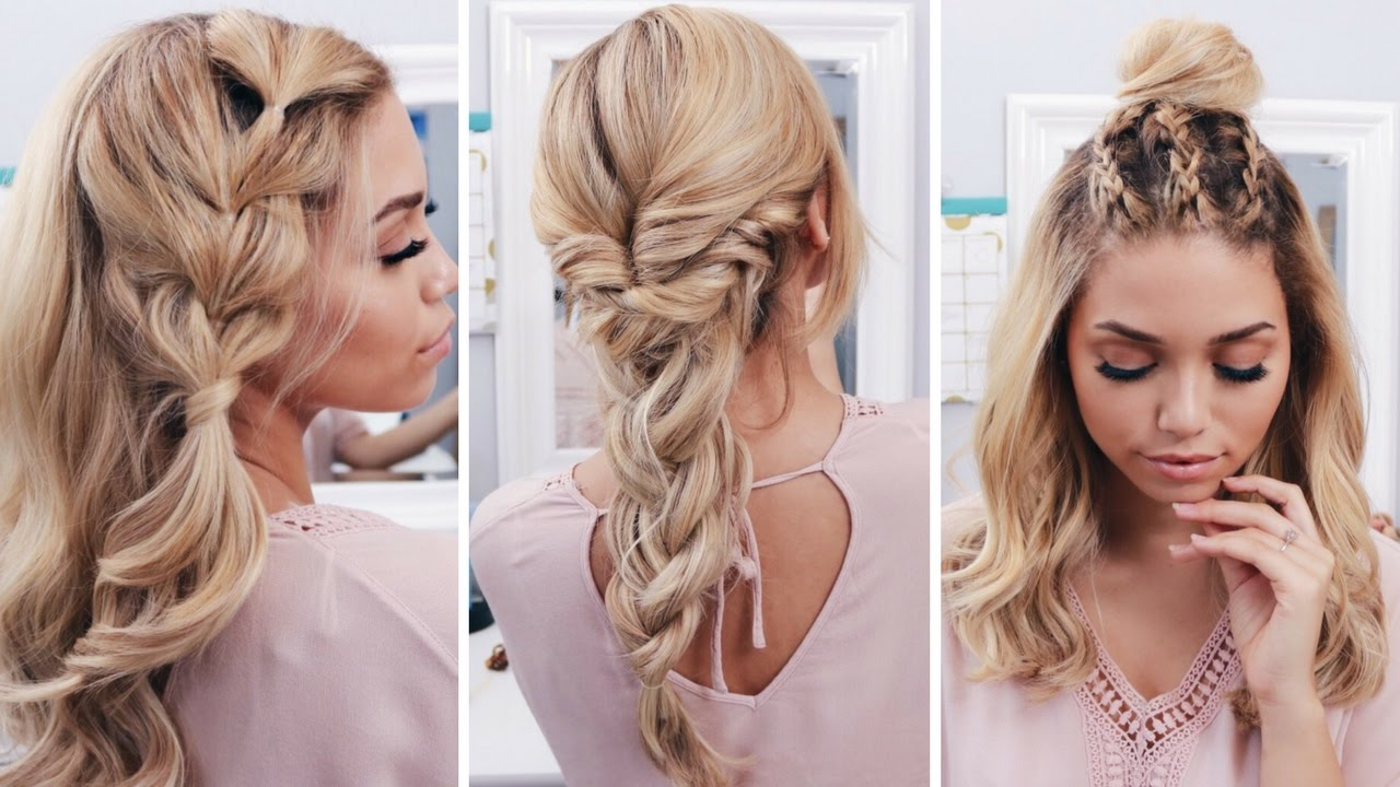 3 easy boho spring hairstyles