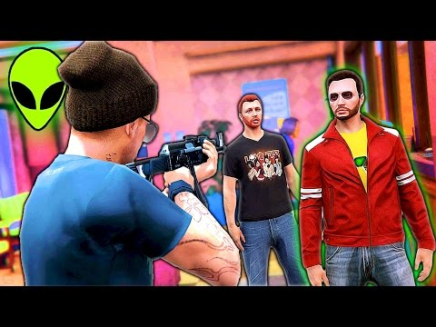 GRAND THEFT ALIEN: Episode #22 - The Canadian Bank Robbery (GTA 5 CINEMATIC)