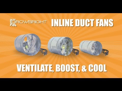 Best Duct Fans InLine Booster Fan for Ducting Grow Rooms Hydroponics 4  6  8  inch HTGSupply Lights  sc 1 st  YouTube & Best Duct Fans InLine Booster Fan for Ducting Grow Rooms ...