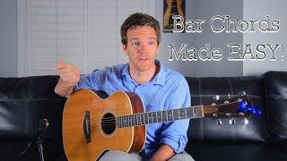 Bar Chords Made Eąsy for Guitar (The F Chord)