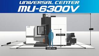 3d machine view/5-axis vertical machining center universal center mu-6300v【okuma corporation japan】