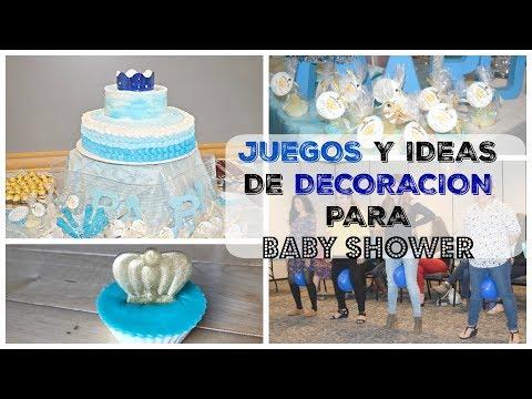 JUEGOS DIVERTIDOS / IDEAS PARA DECORAR BABY SHOWER DE Niño ...