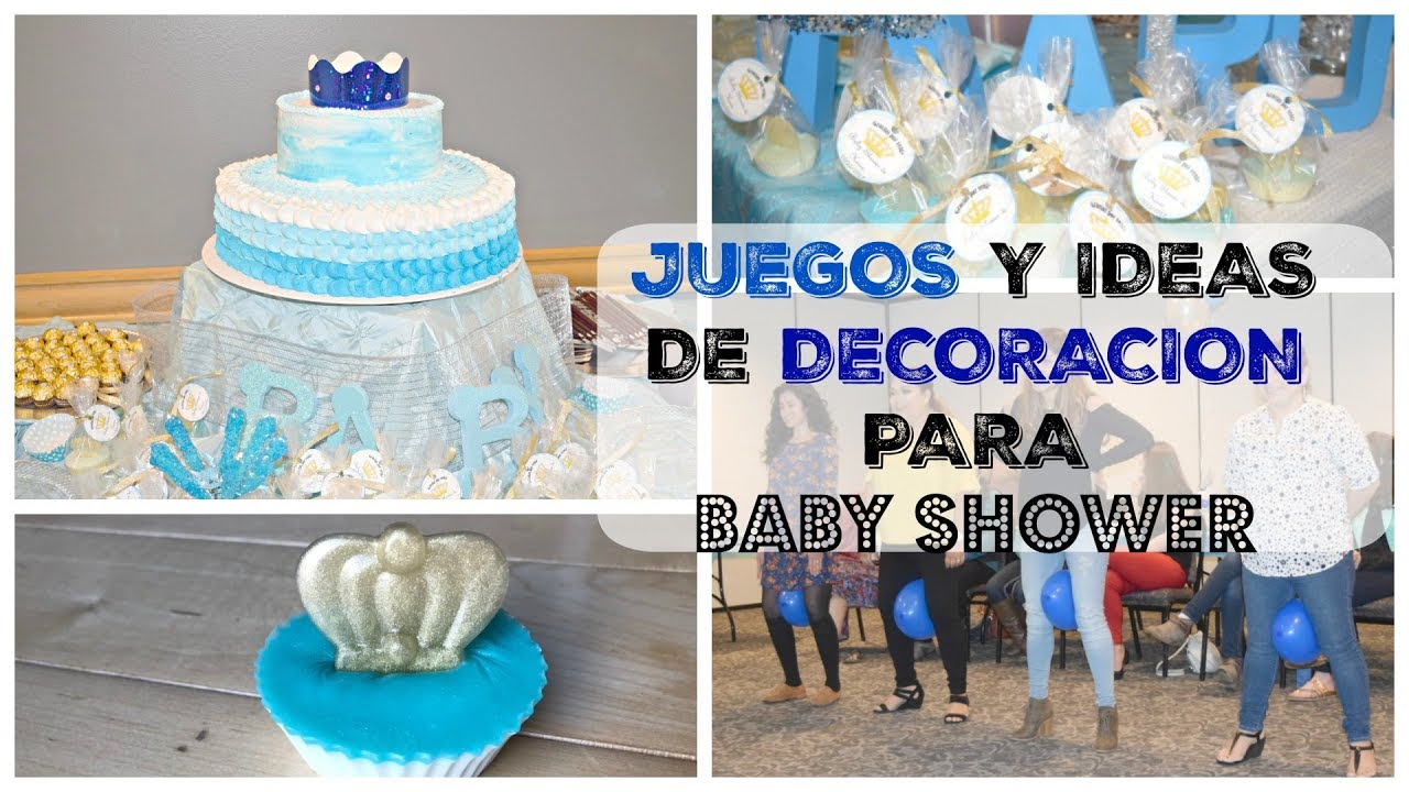 JUEGOS DIVERTIDOS / IDEAS PARA DECORAR BABY SHOWER DE Niño Y JUEGOS FACILES  PARA BABY SHOWER