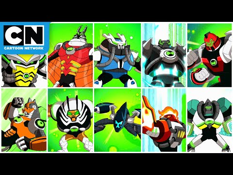 Every Omni-Kix Alien from Season 4 & Movie   Ben 10   Cartoon Network