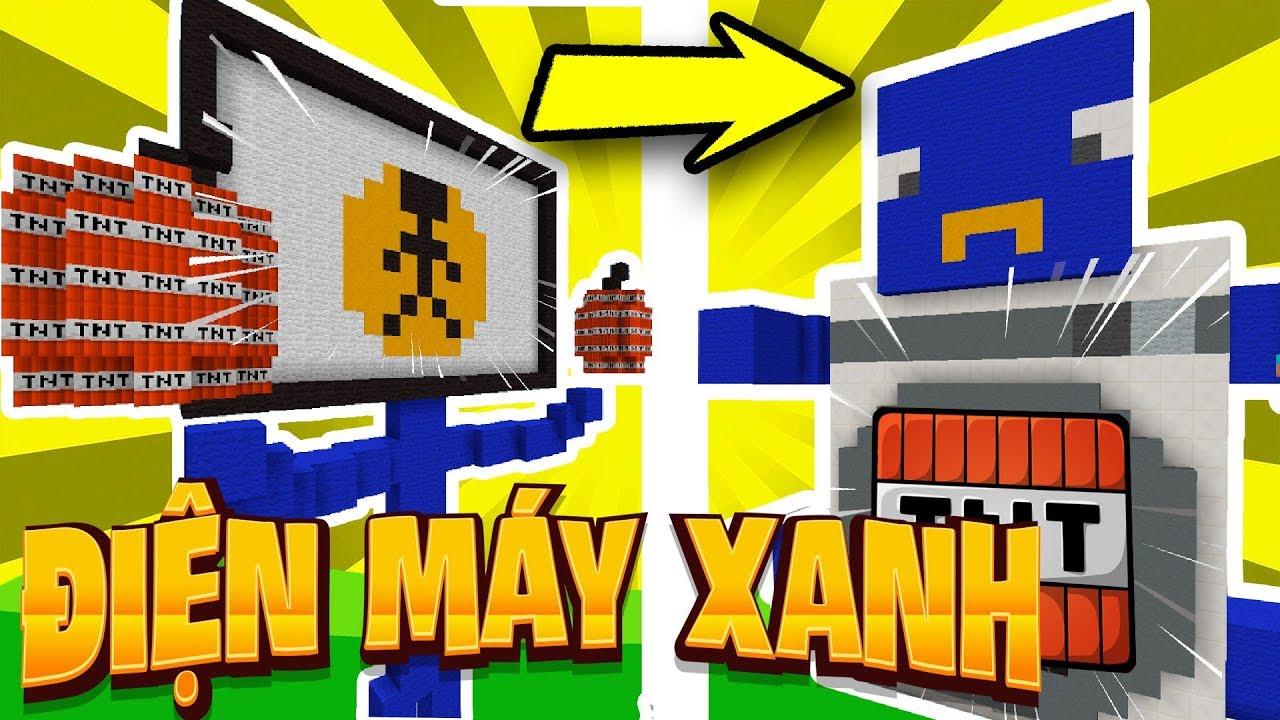 Thử Thách Làm Nhân Vật Điện Máy Xanh Trong Minecraft (Minecraft)