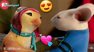 Cute Love😍 Story💘 Stuart Little🐭 & Bird🐥 WhatsApp Status Video By Prasenjeet Meshram