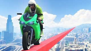 IMPOSSIBLE GTA 5 TIGHTROPE! (GTA 5 Funny Moments)