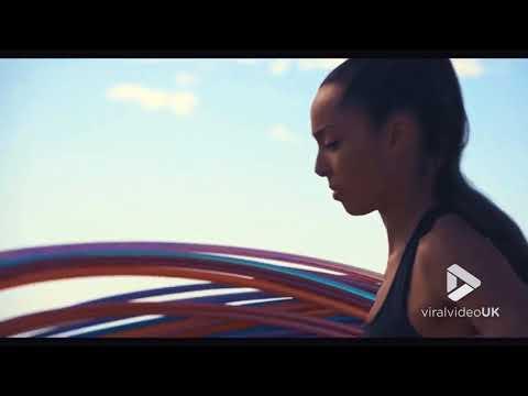 Woman hula hoops 180 in one go full edit