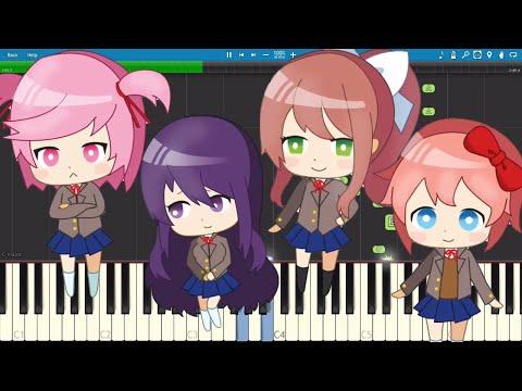 Doki Doki Literature Club Song - Doki Doki Forever - Piano Cover / Tutorial - OR3O