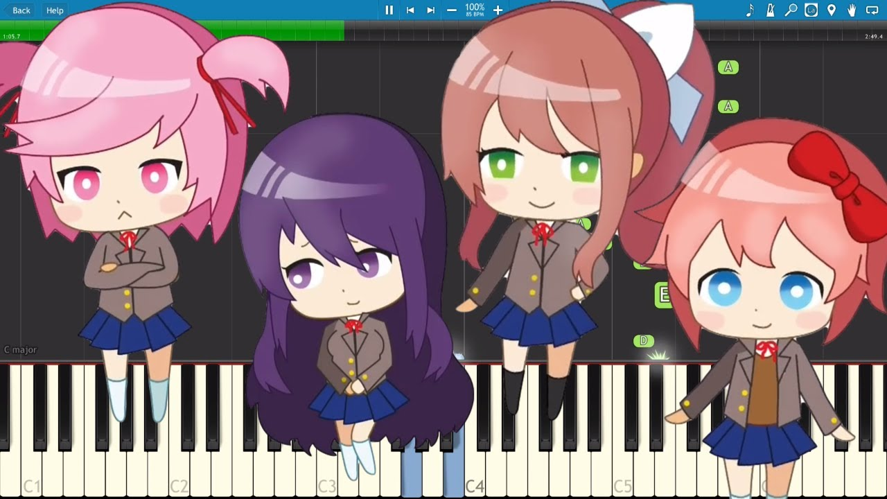 Doki Doki Literature Club Song - Doki Doki Forever - Piano